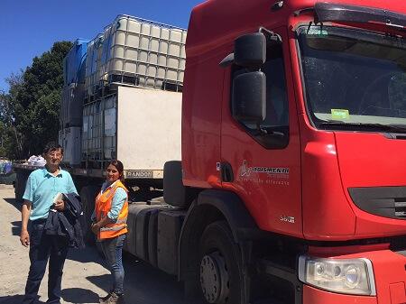 SalmonChile e Indap gestionan la entrega de bebederos animales en la zona afectada por los incendios forestales