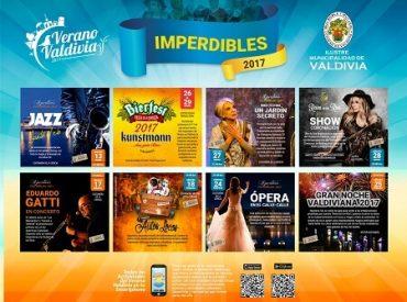"""Municipio valdiviano dio a conocer panoramas """"imperdibles"""" de la temporada veraniega"""