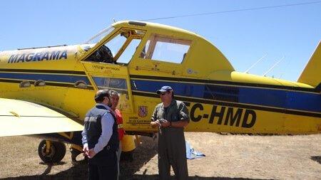 Aeronave para el combate de incendios forestales llegó a región de Los Ríos