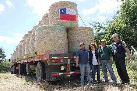 Agricultores de Frutillar continúan ayudando a los productores afectados por los incendios forestales