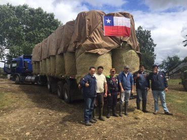 Agricultores de Llanquihue y Los Muermos entregan importante ayuda a sus pares de la zona central