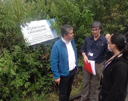 Bienes Nacionales Los Ríos fiscalizó lago Riñihue en sector Llascahue, Panguipulli