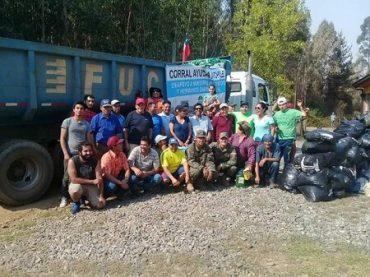 Comunidad y Portuaria Corral apoyan a familiasdamnificadas por incendios forestales
