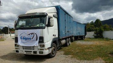"""Concejo municipal de Los Lagos agradece apoyo de Transportes """"El Viejo Roble"""", que traslada fardos a la zona central"""