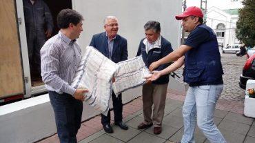 Empresas Collico entregó donaciónpara envío a Hualañé
