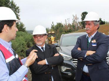 """Intendente visitó obras de la Ruta de La Costa: """"Para nosotros es prioritario el término de los compromisos que contrajo la presidenta"""""""