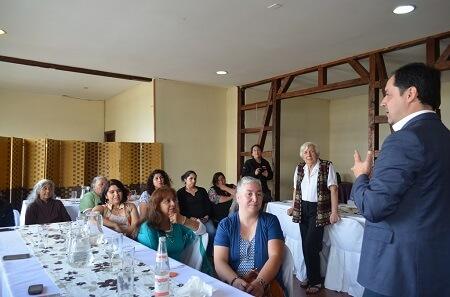 Mujeres de la Carretera Austral se capacitan en telar mapuche