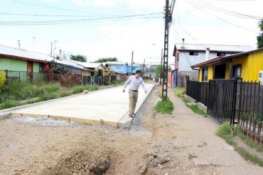 Municipio de Valdivia logra 14 proyectos de pavimentación participativa