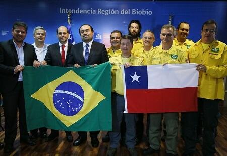 Peritos brasileños de investigación de incendios forestales regresan a su país tras una semana en la región