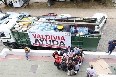 Salió camión con ayuda solidaria desde Valdivia a Hualañé