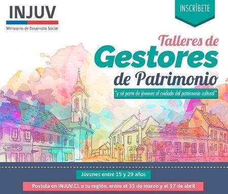 Injuv abrió las postulaciones para talleres de Gestores de Patrimonio