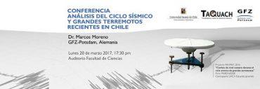 """Invitan a conferencia """"Análisis del ciclo sísmico y grandes terremotos recientes en Chile"""""""