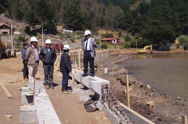 Obras en borde costero de Buchupureo concretan 50% de avance