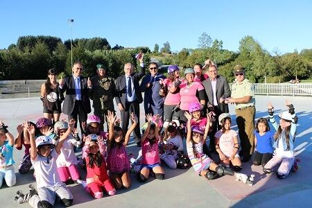 Deportistas de Roller Derby estrenan cancha formativa en el Parque Chuyaca
