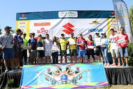 """Triatletas llegaron a San Pedro de la Pazpara el desafío """"Cruzando el Bío Bío"""""""
