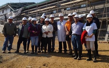 Dirigentes comunitarios visitaron obras de hospital Füta Srüka Lawenche en Misión San Juan