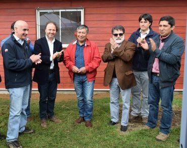 Comunidades Indígenas de Calquinco inauguran sala de procesos para producción de avellana chilena