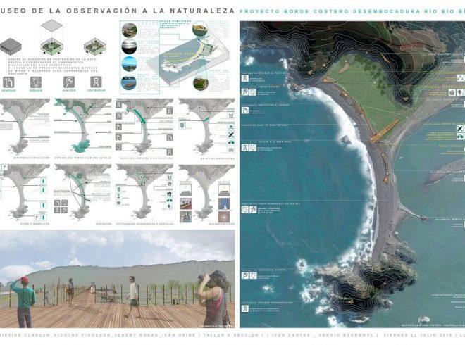 Estudiantes UBB diseñanproyectos para el borde costero y lacustre del Biobio