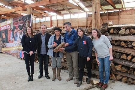 Subsecretaria de Energía inauguró centro de acopio y secado de leña en Los Ríos
