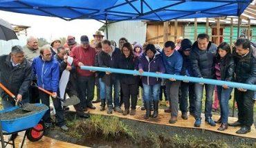 Vecinos de Marriamo, en Río Bueno, pusieron primera tubería para acceder al agua potable