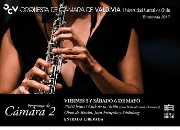 Orquesta de Cámara de Valdivia continúa con temporada de conciertos gratuitos