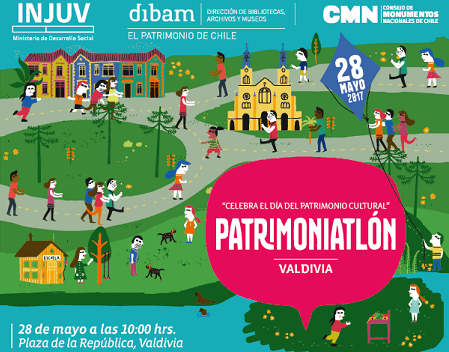 Injuv Los Ríos y el Consejo de Monumentos Nacionales te invitan a ser parte de la #patrimoniatlónvaldivia