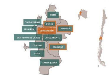 Áreas urbanas de Concepción, Penco, Hualqui yFlorida en riesgo por deslizamiento de tierra