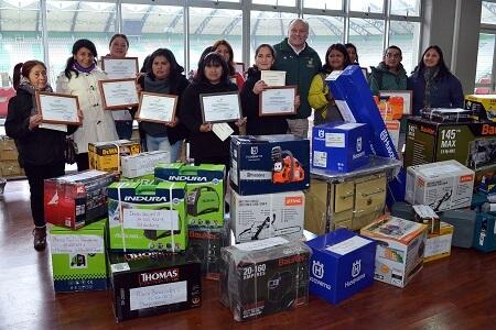 Municipalidad de Temuco capacitó y entregó maquinarias a 40 exrecicladores de Boyeco