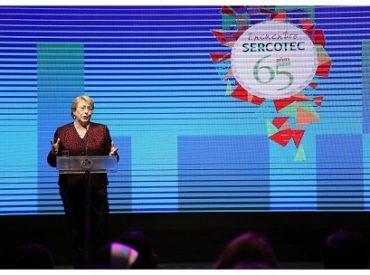 Presidenta Bachelet encabezó la celebración de los 65 años de Sercotec