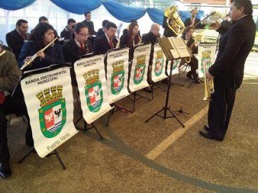 Banda Instrumental Municipal de Puerto Varas se presentó en multicancha de Población Juan Costa