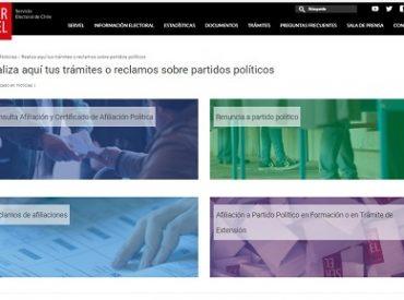 Servel implementa plataforma online para trámites relacionados con partidos políticos