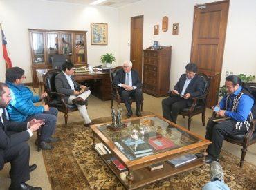 Vicepresidente Jaramillo (PPD) se reunió con Asociación de Municipalidades con alcaldes mapuches