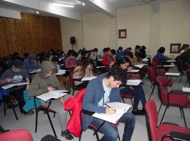 Masiva asistencia de estudiantes a ensayo PSU realizado en el Campus Patagonia de la UACh