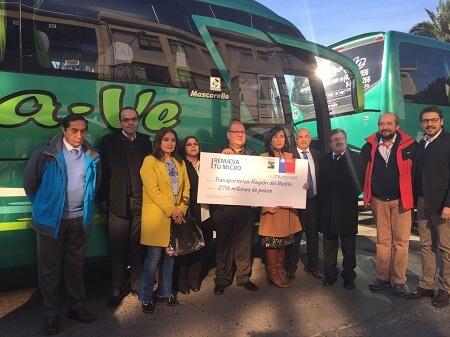 Ministerio de Transportes y Telecomunicaciones entrega más de 750 millones de pesos para renovar buses y taxis colectivos en la Región del Biobío