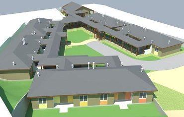 Así serán las primeras viviendas tuteladas que comenzaron a construirse en Chiloé