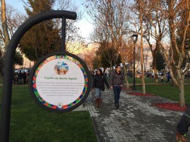 Monte Águila cuenta con renovada plaza que rescata pasado ferroviario de la localidad