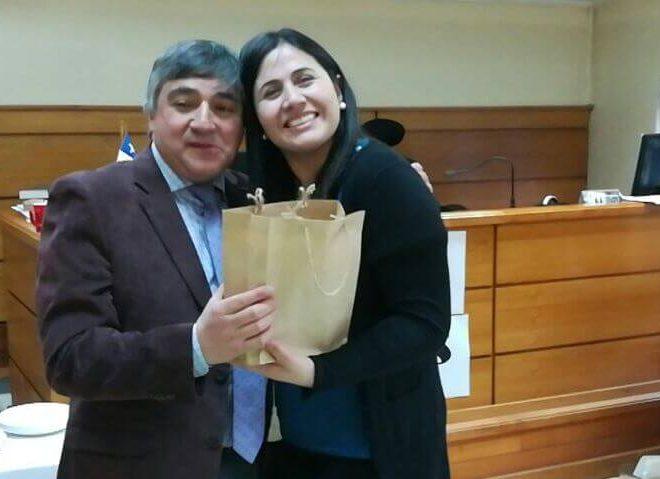 Tribunal de Paillaco reconoce labor de oficial primero tras 40 años de servicio
