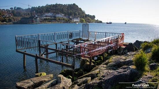 Municipalidad de Puerto Varas se encuentra reparando pilares y fundaciones del muelle Piedraplén para seguridad de la comunidad local y visitantes