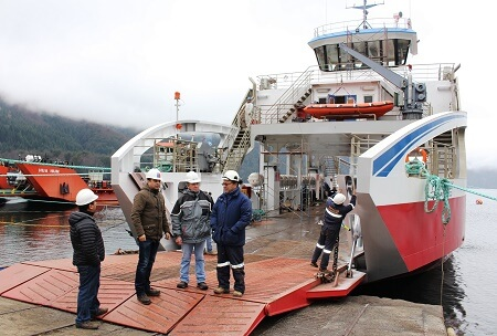 Nueva barcaza Puerto Fuy, para el Paso Internacional Hua Hum, estará terminada a fines de octubre próximo