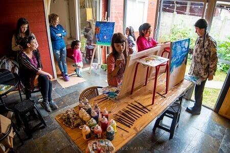 Junta de Vecinos Brisas de la Ribera de Valdivia invita a taller de pintura