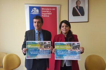 Gobierno en Los Ríos Informó que zonas rurales contarán con 185 servicios gratuitos de transporte para elecciones