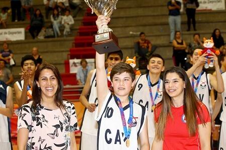 Los Ríos Campeón del básquetbol de la Gran Final Nacional de los Juegos Deportivos Escolares