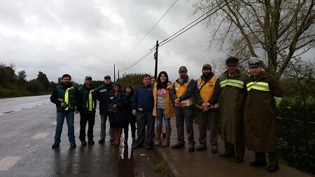 Servicios públicos realizaron control carretero a transporte de productos madereros en Valdivia