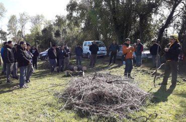Estudiantes y municipio se interiorizan sobre uso del fuego para eliminación de combustible y silvicultura preventiva