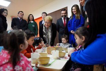 Mandataria inaugura jardín infantil en Puerto Montt y destaca aumento del 35% en la cobertura en la región desde 2014