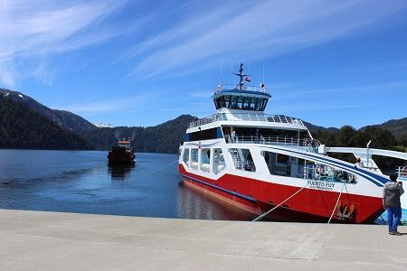 Se inicia marcha blanca de nueva barcaza en el lago Pirehueico