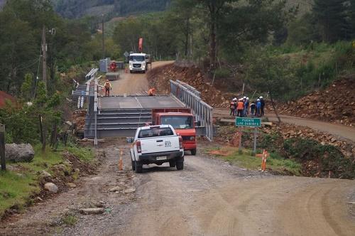 Puente Los Dubines cambia su estructura y se transforma en mecano
