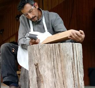Plan Patagonia Verde: artesanos talladores en madera siguen capacitándose