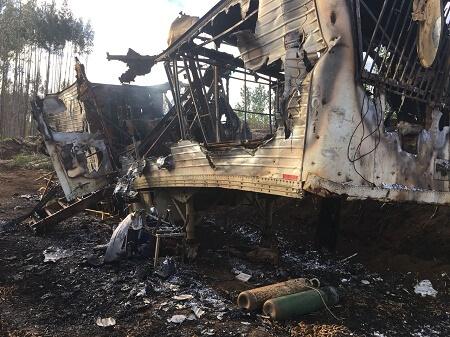 Multigremial del Sur rechaza acción terrorista a maquinaria forestal en la Región de Los Lagos