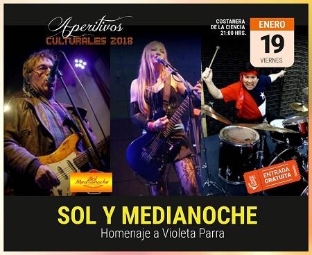 """Este viernes el grupo """"Sol y Medianoche"""" estará presente dando vida al tercer Aperitivo Cultural de Verano en Valdivia"""